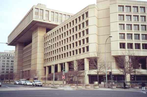 FBI headquarters, the J Edgar Hoover building in Washington