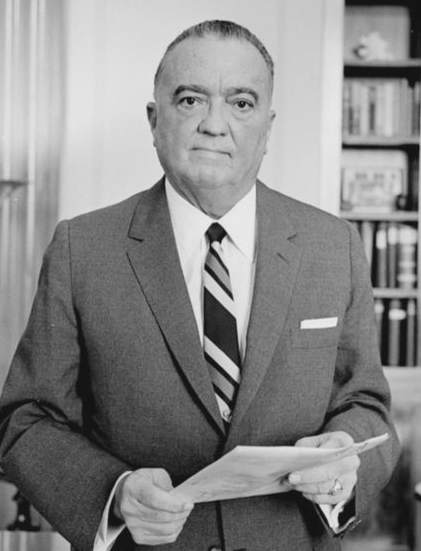 FBI director J. Edgar Hoover