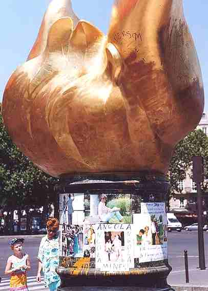 The Flame of Liberty, which sits above the entrance to the Paris tunnel in which Princess Diana died