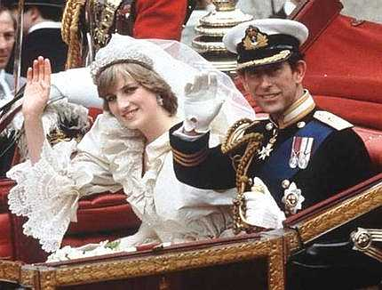 princess diana wedding tiara. The Prince and Princess of