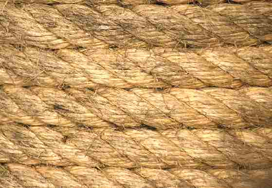 Traditional coiled sisal rope