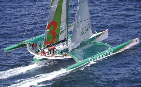 Groupama 3 trimaran racing triple hull