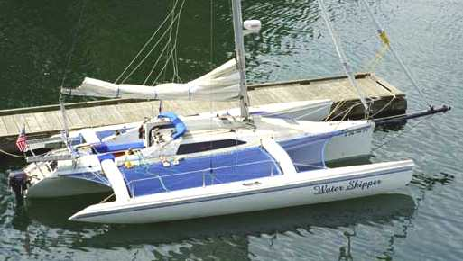 Trimaran design by Hank Brooks, Water Skipper