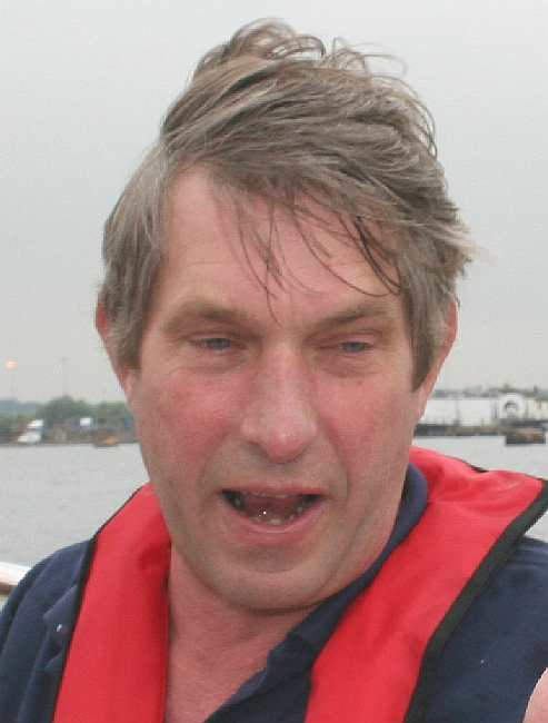 Andy Fox - master boat builder at Southampton Seawork exhibition