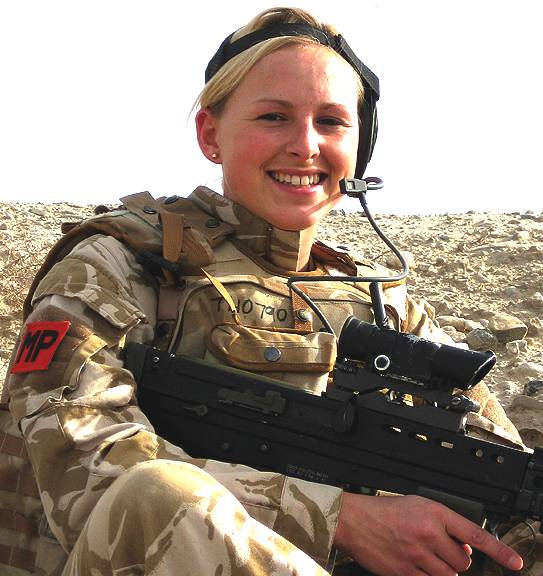 Female member of the Royal Military Police, British Army
