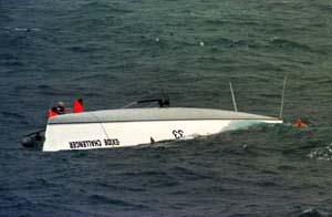 accident bateau de course