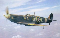 A Royal Air Force Spitfire, one of the fighters many thank for winning the Battle of Britain