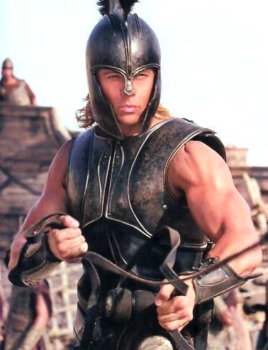 BRAD PITT IN TROY EPIC FILM AS ACHILLES - THE FACE THAT LAUNCHED A THOUSAND
