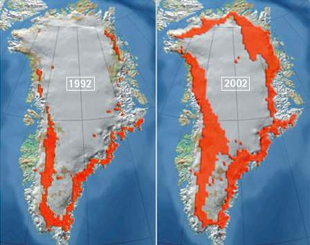 Greenland ice sheet melt extent