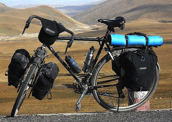 Super genuine traditional touring cycle fully loaded rucksacks