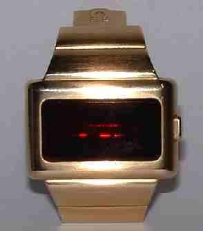 Omega digital LED watch, time computer