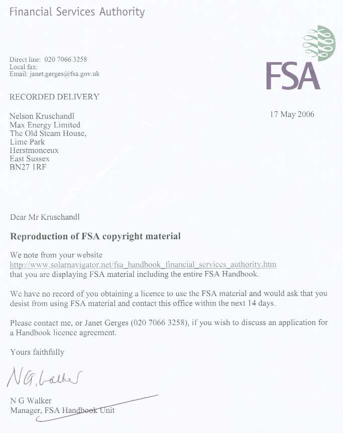 insurance letter of authority template  FINANCIAL SERVICES AUTHORITY FSA | MONEY LENDING, MORTGAGES ...