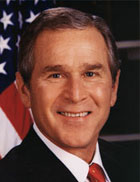 George W Bush US president and global warming