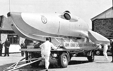 The crusader water speed record boat