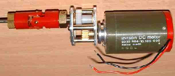 Maxon motor and gearbox for the SolarNavigator model