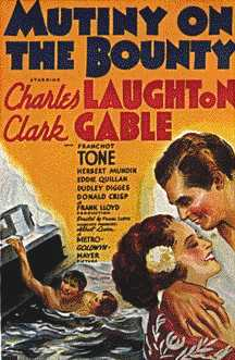 Mutiny on the Bounty Clarke Gable and Charles Laughton movie poster