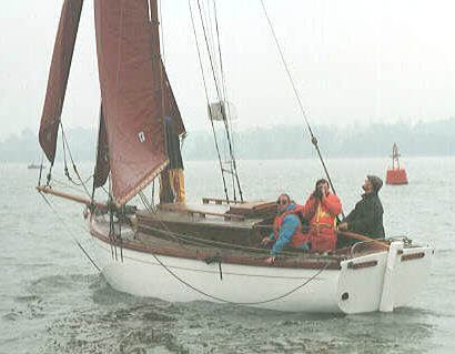 Nancy Blackett at sea