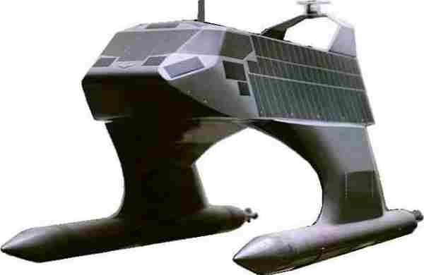 Solar powered SWATH vessel