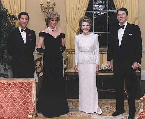 The Prince and Princess of Wales with US President Ronald Reagan and his wife, First Lady Nancy Reagan