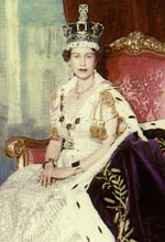 HM Queen Elizabeth II coronation day 2 June 1953