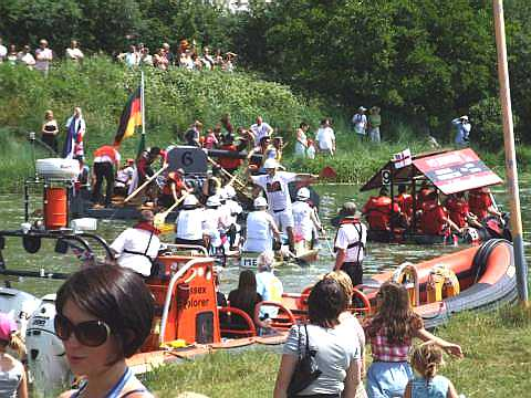 Raft Race, River Ouse in Sussex - Lewes to Newhaven