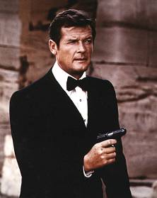Sir Roger Moore as James Bond 007 the man with the golden gun