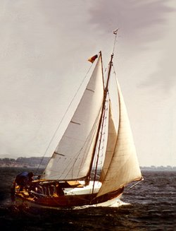 A Traditional Wooden Sailing Boat