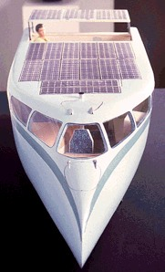 Aurinokvene 1997 model solar powered boat