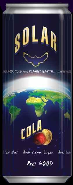 Blue Planet Earth solar cola recycle can