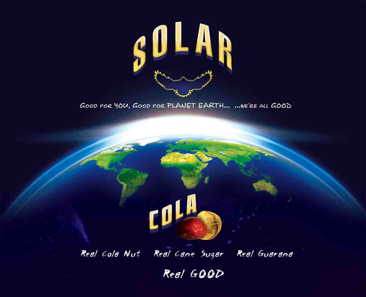 Planet Earth and Solar Cola good for you