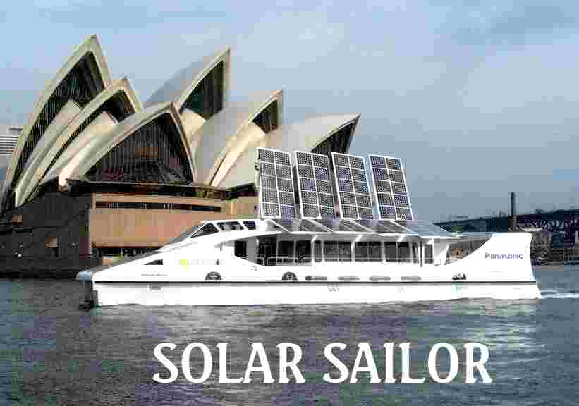 Sydney opera house and the solar sailor