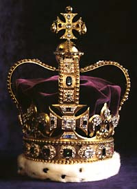St Edward's Crown, 1661 used by Queen Elizabeth on state occasions