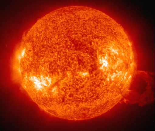 The Sun, nuclear fusion using hydrogen as fuel
