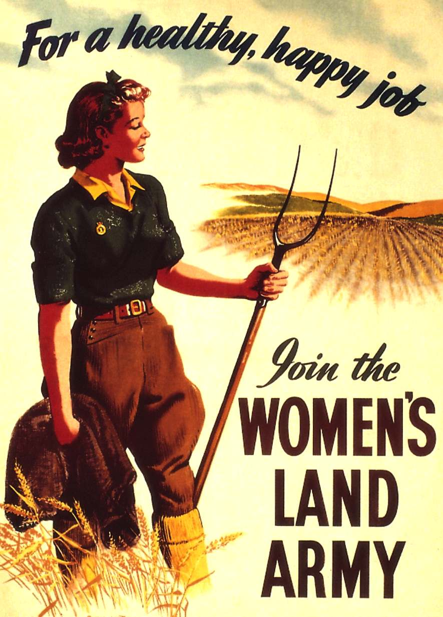 Womens Land Army recruitment poster, not dissimilar in principle to cloning ideals