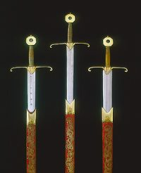 The Swords of Temporal Justice, Spiritual Justice and Mercy (the Curtana), c1626