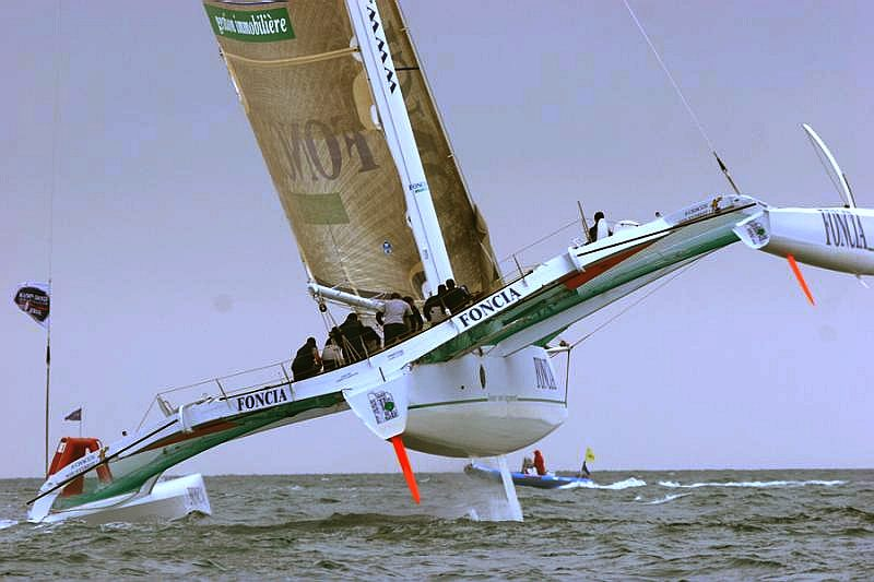 Foncia sponsored trimaran racing yacht