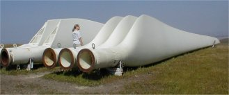 In the wind business, bigger is better. Construction and maintenance costs are similar for large and small turbines, so utility companies build the largest feasible turbines.
