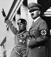 Benito Mussolini (left) and Adolf Hitler