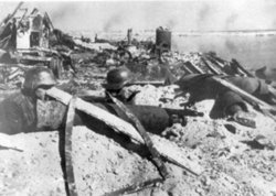 German soldiers at the Battle of Stalingrad