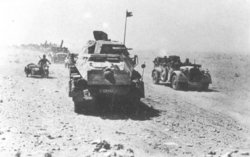 Afrika Korps on the move in Africa, 1942