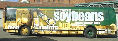 Soybeans biodiesel powered bus