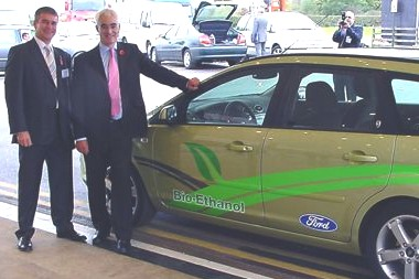 Alistair Darling MP Ford Focus flexi fuel biofuel car Birmingham
