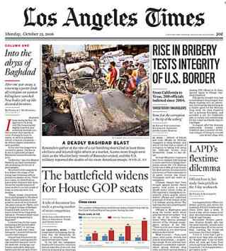 LOS ANGELES TIMES NEWS DESK LINKS