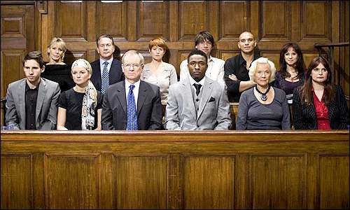 BBC television The Verdict - Jury