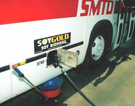 Soy Gold biodiesel fuel pump Bus