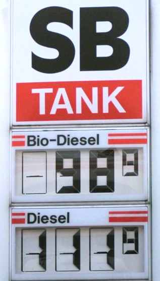 Biodiesel Vs Diesel fuel pump prices