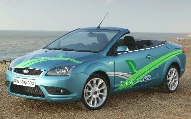Ford Focus cabriolet biofuel car