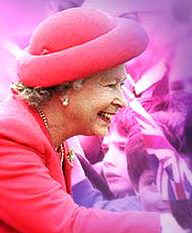 Her Royal Highness Queen Elizabeth II most voted popular British person