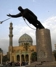 Iraq war - Saddam statue falling