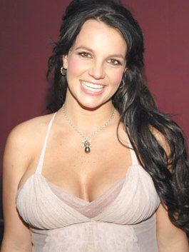 britney spears black hair